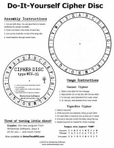 cipher disc image